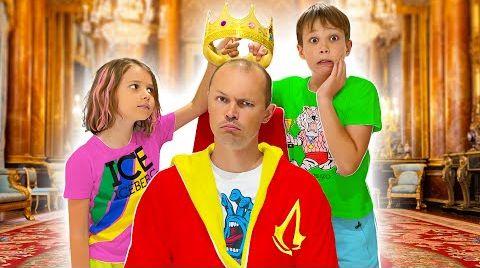 Видео Папа Король 24 часа для Макса и Кати