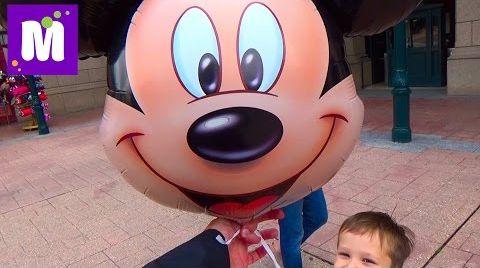 Видео Париж День 1 Диснейленд гуляем катаемся на поезде и лодке купим шарик Disneyland Park Paris
