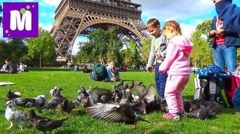 Видео Париж День 7 экскурсия на автобусе к Эйфелевой Башне Big Bus Tour Paris