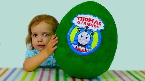 Видео Паровозик Томас и друзья яйцо с сюрпризом / Thomas and friends/ обзор игрушек