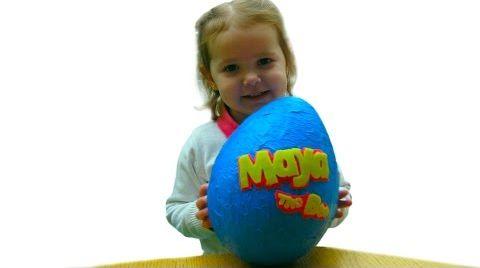 Видео Пчелка Майя огромное яйцо с сюрпризом/ обзор игрушек