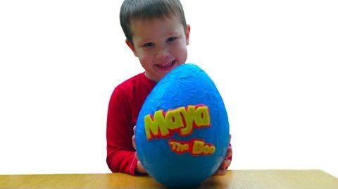 Видео Пчелка Майя огромное яйцо с сюрпризом открываем игрушки