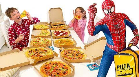 Видео Пицца от Спайдермена
