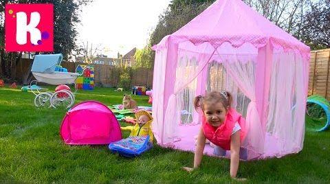 Видео Пикник с куклой во дворе / Палатка для Baby Born