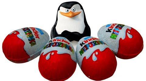 Видео Пингвины Мадагаскара Киндер Сюрприз / обзор игрушек