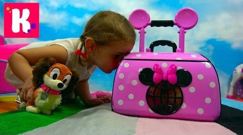 Видео Питомец Минни Маус / собачка ФиФи в чемоданчике для перевозки животных / Minnie Mouse