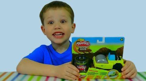 Видео Play-Doh Ролланд каток укладывает асфальт