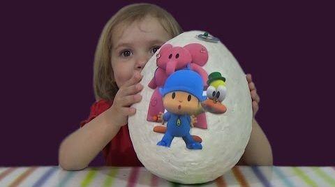 Видео Покойо огромное яйцо с сюрпризом / обзор игрушек