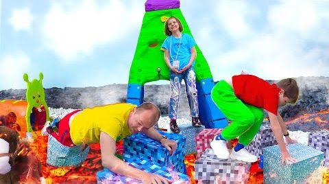 Видео Пол это Лава Катя и Макс устроили челлендж для папы