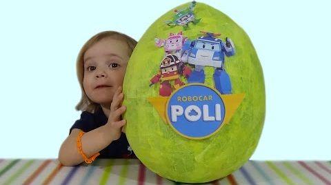 Видео Поли Робокар огромное яйцо с сюрпризом/ обзор игрушек