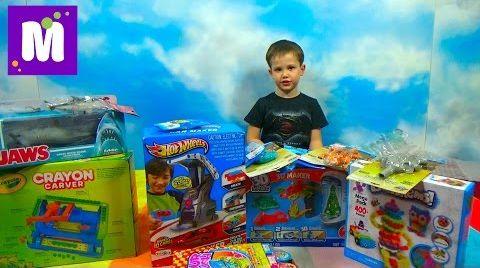Видео Посылка с игрушками Хот Виллс и Томас и его друзья