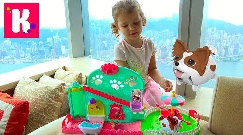 Видео Прикольные собачки с ванной и каруселью / собачка убегает от Кати / Chubby Puppies