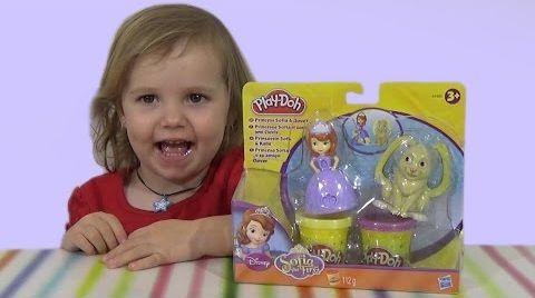 Видео Принцесса София набор пластилина Play-Doh