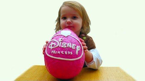 Видео Принцессы Дисней огромное яйцо с сюрпризом / обзор игрушек