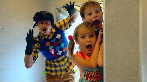 Видео Привет сосед в реальной жизни напал на детей или Hello Neighbour catch children