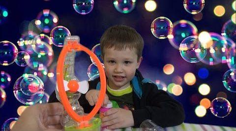 Видео Пузыри мыльные пускаем из пистолета распаковка игрушка