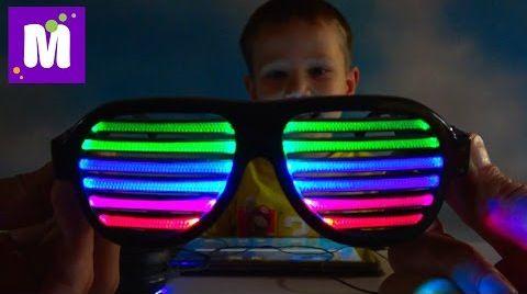 Видео Радио приемник DIY и очки с чувствительнымы LED полосками Собираем сами