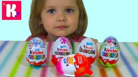 Видео Распаковка Kinder surprise