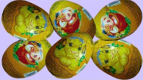 Видео Распаковка Король Лев Симба яйца сюрприз игрушки