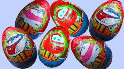 Видео Распаковка Паровозик Тишка яйца сюрприз игрушки