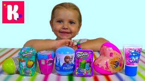Видео Распаковка сюрпризов с игрушками