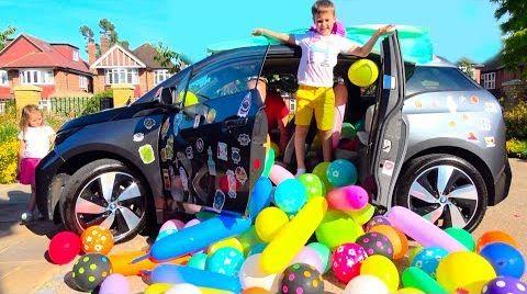 Видео Разыграли маму ЗАСЫПАЛИ машину ШАРИКАМИ или BALLOONS PRANK IN MY MOM's CAR