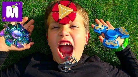 Видео Самая новая коллекция / Fidget Spinner Challenge / Макс теряет зуб /Ищем спинеры по всему дому