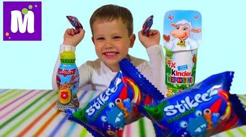 Видео Самолеты Дисней Ежики Киндер сюрприз игрушки распаковка