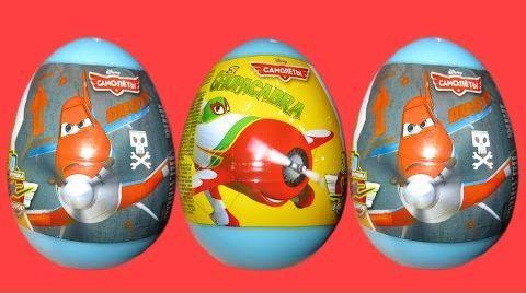 Видео Самолеты Летачки яйца сюрприз игрушки распаковка