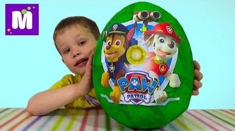 Видео Щенячий патруль огромное яйцо с сюрпризом открываем игрушки