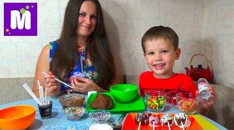 Видео Шоколадные конфетки на палочке с нутеллой делаем дома
