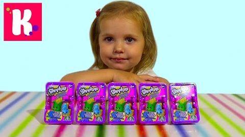 Видео Шопкинс корзинки с игрушками/ распаковка
