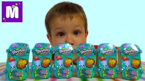Видео Шопкинс корзинки сюрпризы с игрушками распаковка Shopkins