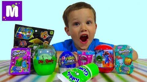 Видео Шопкинс Мстители Трешпэк Ниндзя сюрпризы с игрушками распаковка