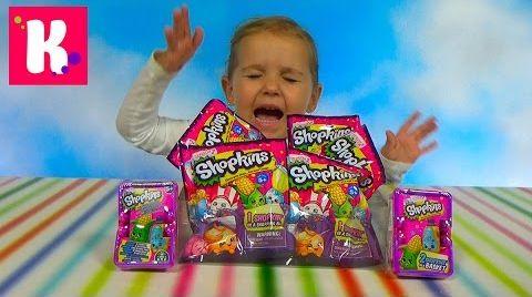 Видео Шопкинс пакетики с игрушкой / Обзор игрушек Shopkins