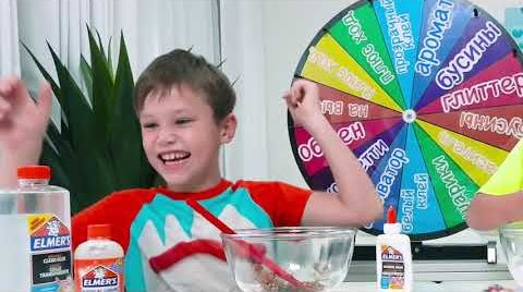 Видео Slime Challenge Лизун Челлендж