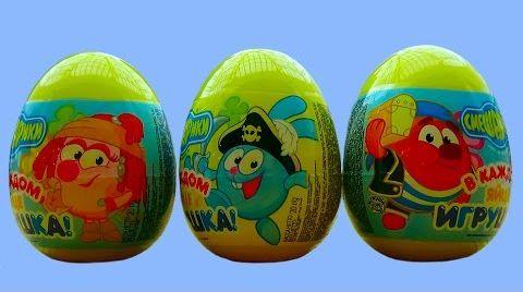 Видео Смешарики яйца с сюрпризом открываем игрушки