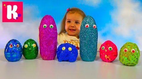 Видео Смешные заводные животные / Яйца с глазками и блёстками / Обзор игрушек