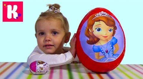 Видео София Прекрасная большое яйцо с сюрпризом / Обзор игрушек