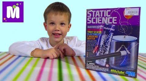 Видео Статическая Наука проводим электрические опыты дома распаковка набора