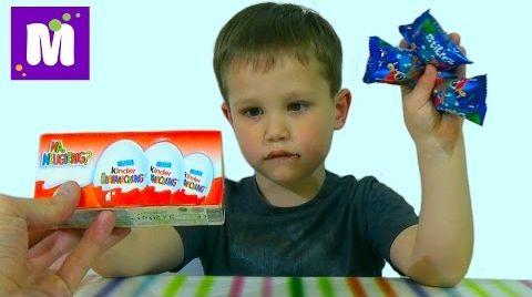 Видео Стикизы Киндер сюрприз игрушки распаковка Stikeez