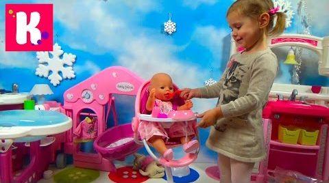 Видео Стульчик для кормления куклы Беби Борн / Обзор игрушек