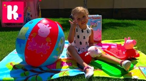 Видео СУПЕР огромная коробка с игрушками  Свинка Пеппа / Обзор игрушек