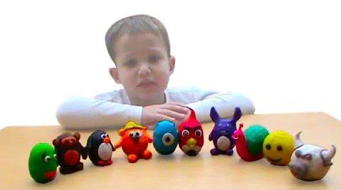 Видео Сюрпризы из теста/пластилина ПлэйДо открываем игрушки