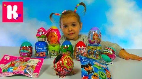Видео Сюрпризы в яйцах и пакетиках / Обзор игрушек