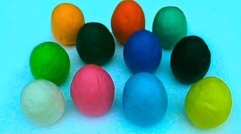 Видео Сюрпризы яйца тесто ПлэйДо открываем игрушки