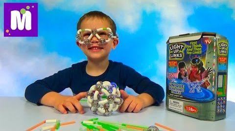 Видео Светящийся конструктор Light Up Links делаем светящийся шар и очки