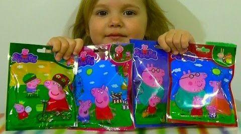 Видео Свинка Пеппа -пакетики с игрушками (подделка)