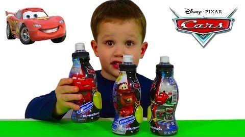 Видео Тачки Дисней Напиток с сюрпризом открываем игрушки