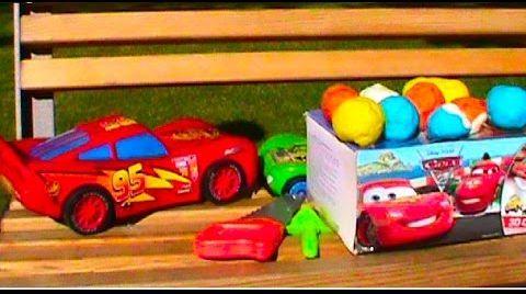 Видео Тачки Молния сюрприз Плэй До тесто игрушки